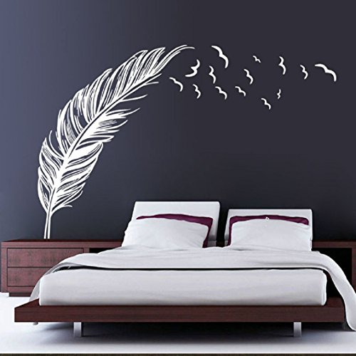 ikevan-new-creative-feather-wall-sticker-bedroom-home-decal-mural-art-decor-waterproof-pvc-wallpaper