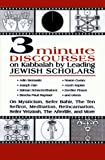 3 Minute Discourses on Kabbalah by Leading Jewish Scholars, Adin Steinsaltz, 0765761947