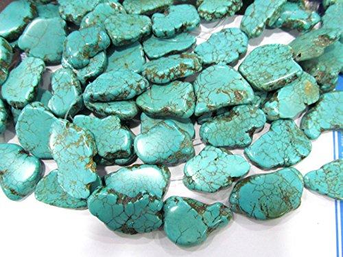 Turquoise Stone Slab Freeform green Blue white Turquoise beads blue Magnestie Slabs Turquoise Loose beads 20-40mm 16inch full strand (Turquoise Freeform Shape)