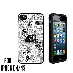 Arctic Monkeys collage lyric Cute Custom made Case/Cover/skin FOR Apple iPhone 4/4S - Black - Rubber Case ( Ship From CA)