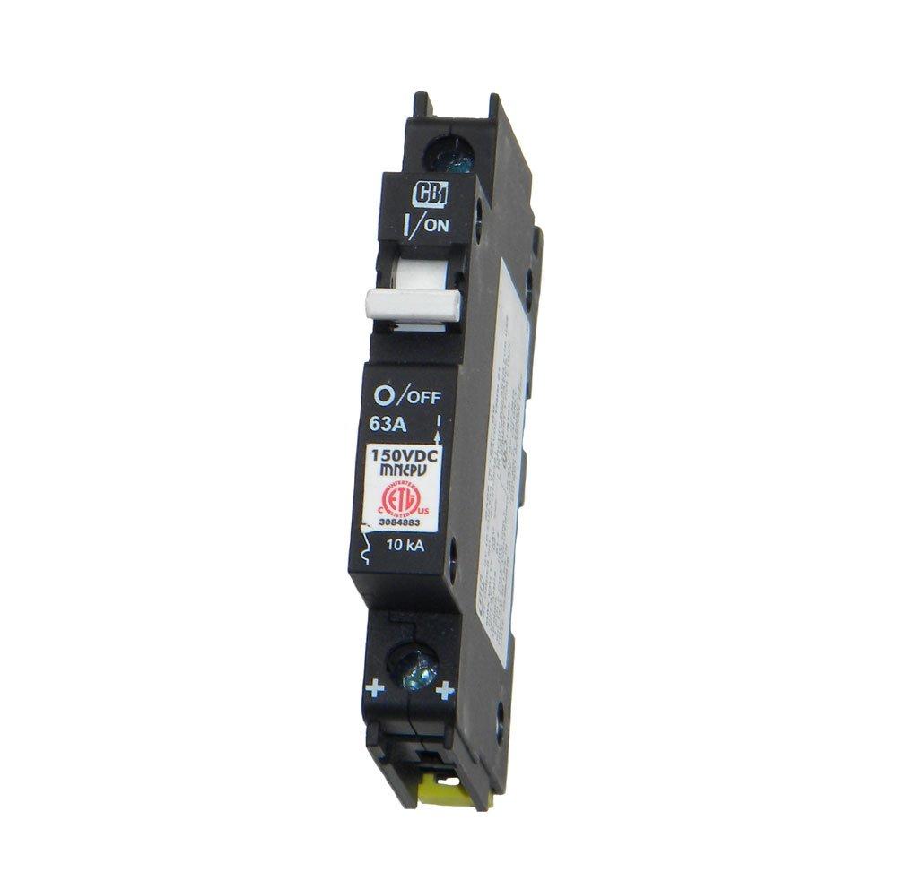63 Amp 150 Volt Dc Din Rail Mount Combiner PV Breaker   MNEPV63