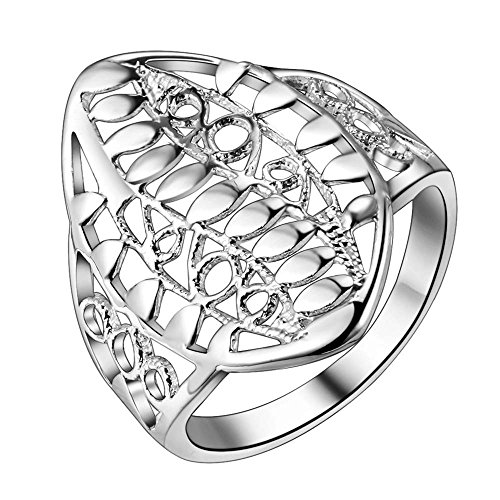 Halo Custom Armor Costumes (OUBEY Armor Fashion 925 Jewelry Silver Plated Ring Fashion Jewelry Ring For Women)