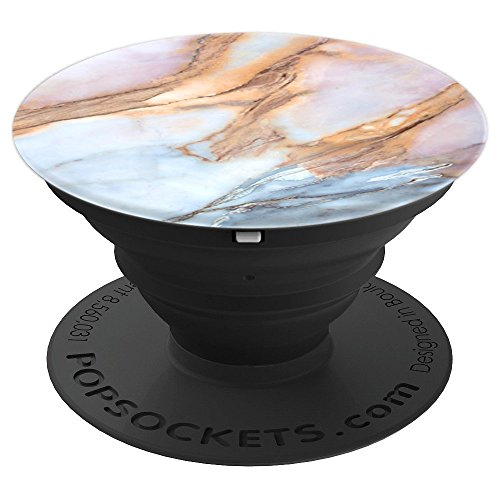 Chic Colored Marble Granite Classic Colorful Blue Light Pink - PopSockets Grip and Stand for Phones and Tablets