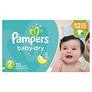 Pampers Baby-Dry Disposable Diapers Size 2, 112 Count, SUPER
