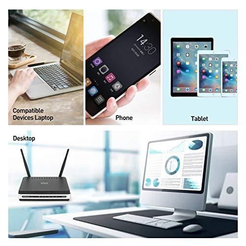 WiFi Adattatore USB 3.0 AC 1200 Mbps WiFi doppia banda 2.4G/5GHz, Antenna WiFi Dual Band per PC Desktop Portatile Tablet, Sistemi operativi Windows XP/Vista/7/8/10, Linux, Mac OS X