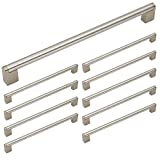 Homidy Kitchen Cabinet Pulls and Knobs Brushed Nickel 288mm(11.33 inch) Hole Spacing Stainless Steel Boss Bar Cabinet Door Handles 10 Pack
