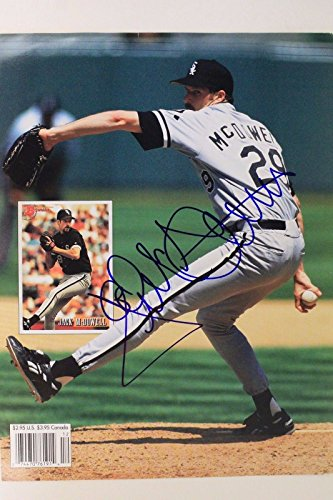 (Jack McDowell 1987-94 Chicago White Sox Autographed 8x10 Photo Card Signed 16J)