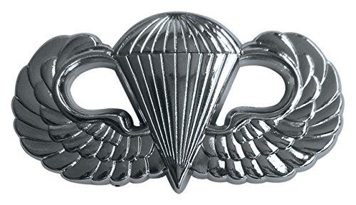 (Shadow Six Romeo Military Army Chrome Metal Decal Auto Emblem (Parachutist Badge))