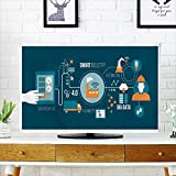 Analisahome Cord Cover for Wall Mounted tv Automation and User Interface Concept User Connect Cover Mounted tv W32 x H51 INCH/TV 55''