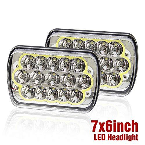 led headlight 7x6 inch 5x7 inch white angle eyes Sealed Beam Replacement Hi/Lo Beam DRL Fits Wrangler YJ Cherokee XJ Trucks PICKUP TRUCK, 1003N-W-2pcs Colight
