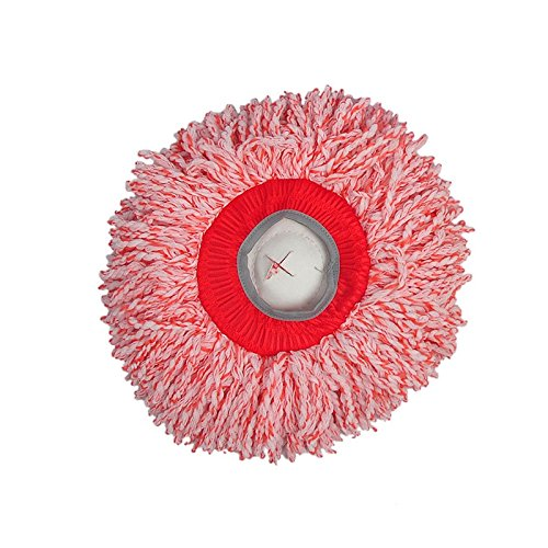 Microfiber Mop Head Replace Refill Replacement Cloth Easy Washing Magic Mops 360 Degree Rotating Mop Head (Deluxe Red Hair Spray)