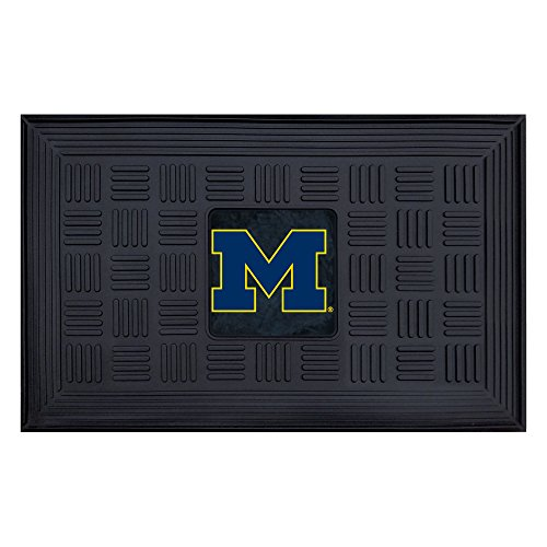 Fanmats NCAA University of Michigan Wolverines Vinyl Door Mat