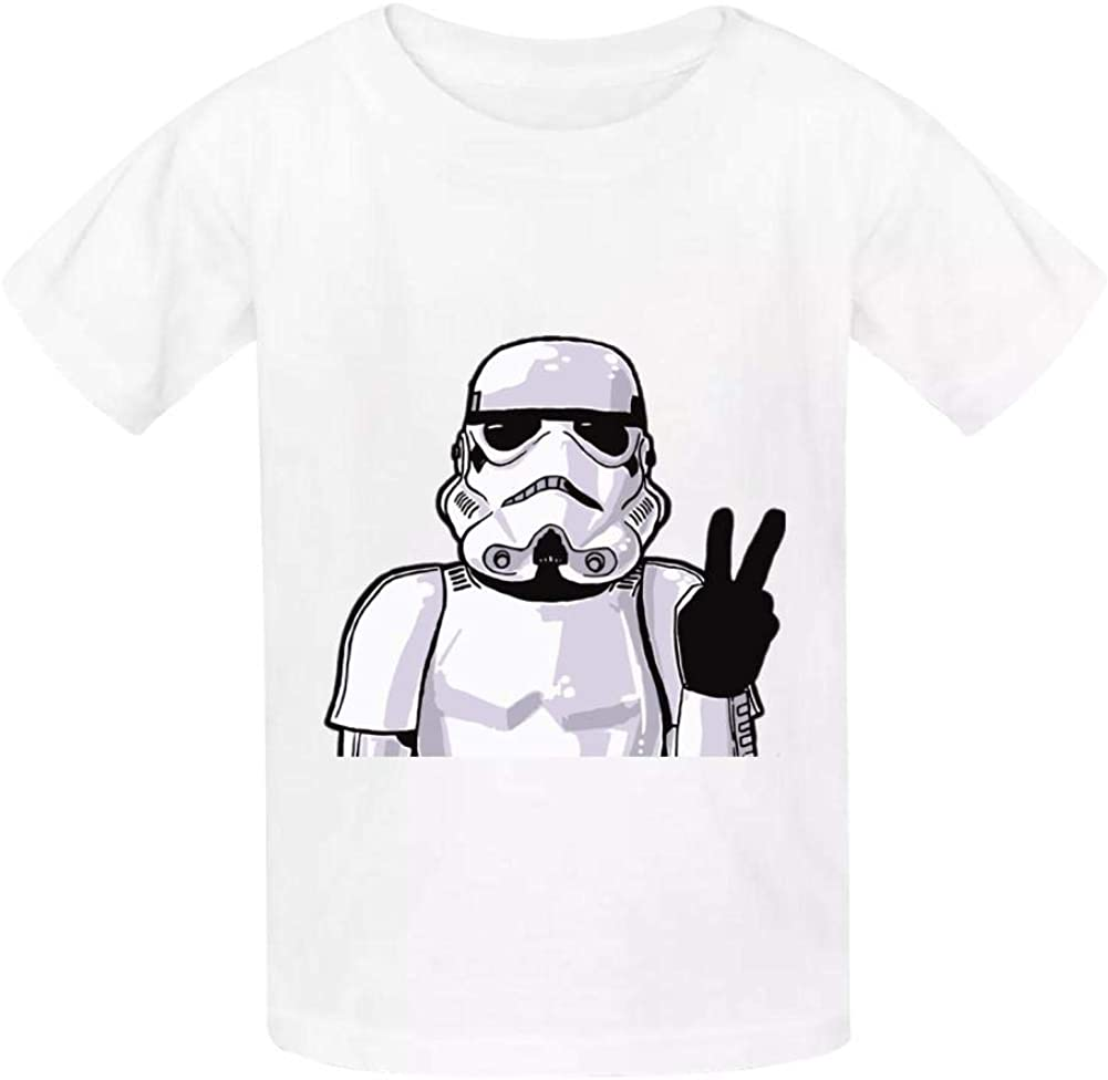 KAWDIS Storm-Troopers Basic Daily Wear Cotton Graphic T Shirts for Girls and Boys
