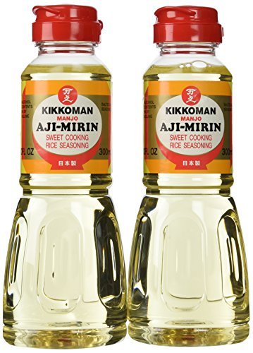 Aji-Mirin, Japanese sweet cooking rice wine - 10 oz x 2 bottles - Mirin Cooking Wine