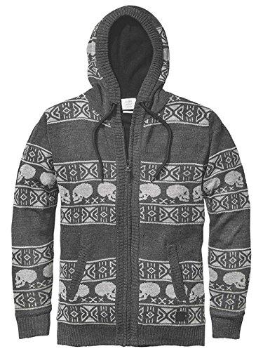 GLOBE cardigan Wales Sweater charcoal grigio