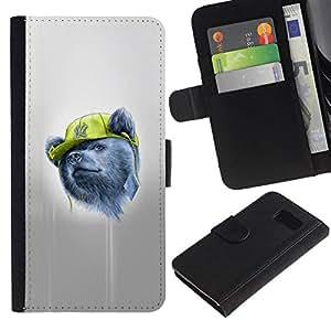 NEECELL GIFT forCITY // Billetera de cuero Caso Cubierta de protección Carcasa / Leather Wallet Case for Sony Xperia Z3 Compact // Gangsta Oso