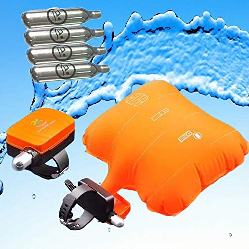 Price comparison product image OHIYO Anti-Drowning Bracelet Co2 Emergency Float Device,  Water Aid Lifesaving,  Water Buoyancy Device Swim Safety,  Life Preserver Load Bearing Rescue Float Wristband with 4 Cartridges Ship from USA