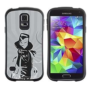 Paccase / Suave TPU GEL Caso Carcasa de Protección Funda para - Music Magic Musician Notes - Samsung Galaxy S5 SM-G900
