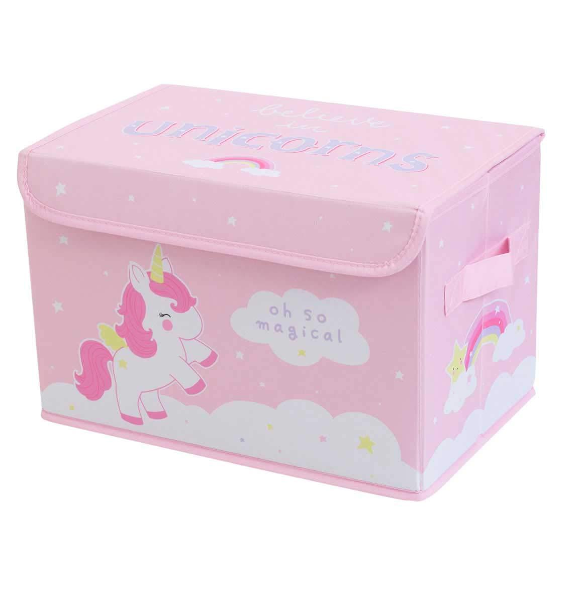 A Little Lovely Company stpuun01–Scatola portaoggetti, motivo unicorno