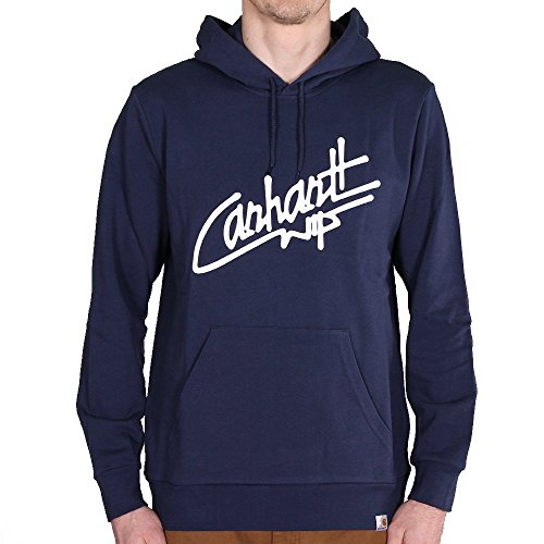 Carhartt WIP Hooded Locals Sweat Blue White M