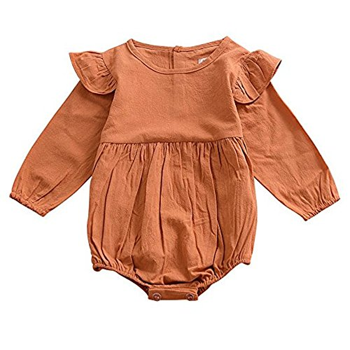 Mother's Angel Twin Newborn Clothes Orange Baby Onesie Girl Bodysuit Infant (Infant Angel Apparel)