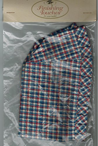 Longaberger Cracker Basket Liner in Red / White / Blue Plaid Fabric Stand Up New In Bag