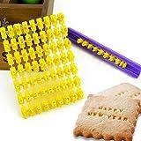 Clothful  New Alphabet Letter Number Cake Mould Biscuit Cookie Press Stamp DIY
