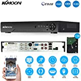 KKmoon 1080N/720P 4CH AHD DVR HVR NVR HDMI P2P Cloud Network Onvif Digital Video Recorder & 1TB HDD Plug and Play Android/iOS APP Free CMS Browser View Motion Detection Email Alarm