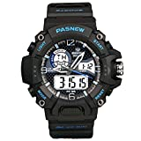 Outdoor Sport Watch for Men & Women, Analog & Digital Quartz, Multifunctional With Chronograph, EL Backlight, Alarm Clock & Stopwatch, Durable Wrist Strap, 30m Water Resistant