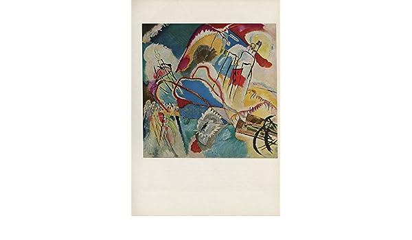 """1958 Vintage KANDINSKY /""""IMPROVISATION 30/"""" GORGEOUS COLOR Art Print Lithograph"""