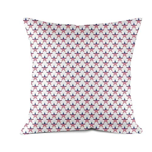 Heart Wolf 4th of July American Flag Patriotic Stars Throw Pillow Covers 45x45cm Hypoallergenic Classics Bed Bug Proof Pillow Cover Vintage Anti-Fading Sofa Cushion Pillowcases