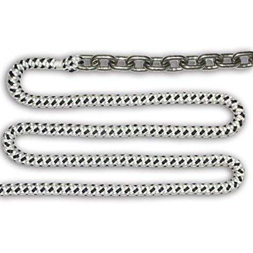 Anchorlift Windlass Rode Kit, Part#: DB5/8-200, 15 feet of 5/16'' Galvanized Chain + 200 feet of 5/8'' Double Braided Rope with Nylon Beaded Core, 5 Year Warranty! by Anchorlift