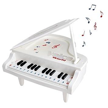 Fajiabao Infantil Mini Piano Juguete Con 14 Teclas Juego Electrónico Con Luces Y Canciones De Música Regalo Para Niños Niñas