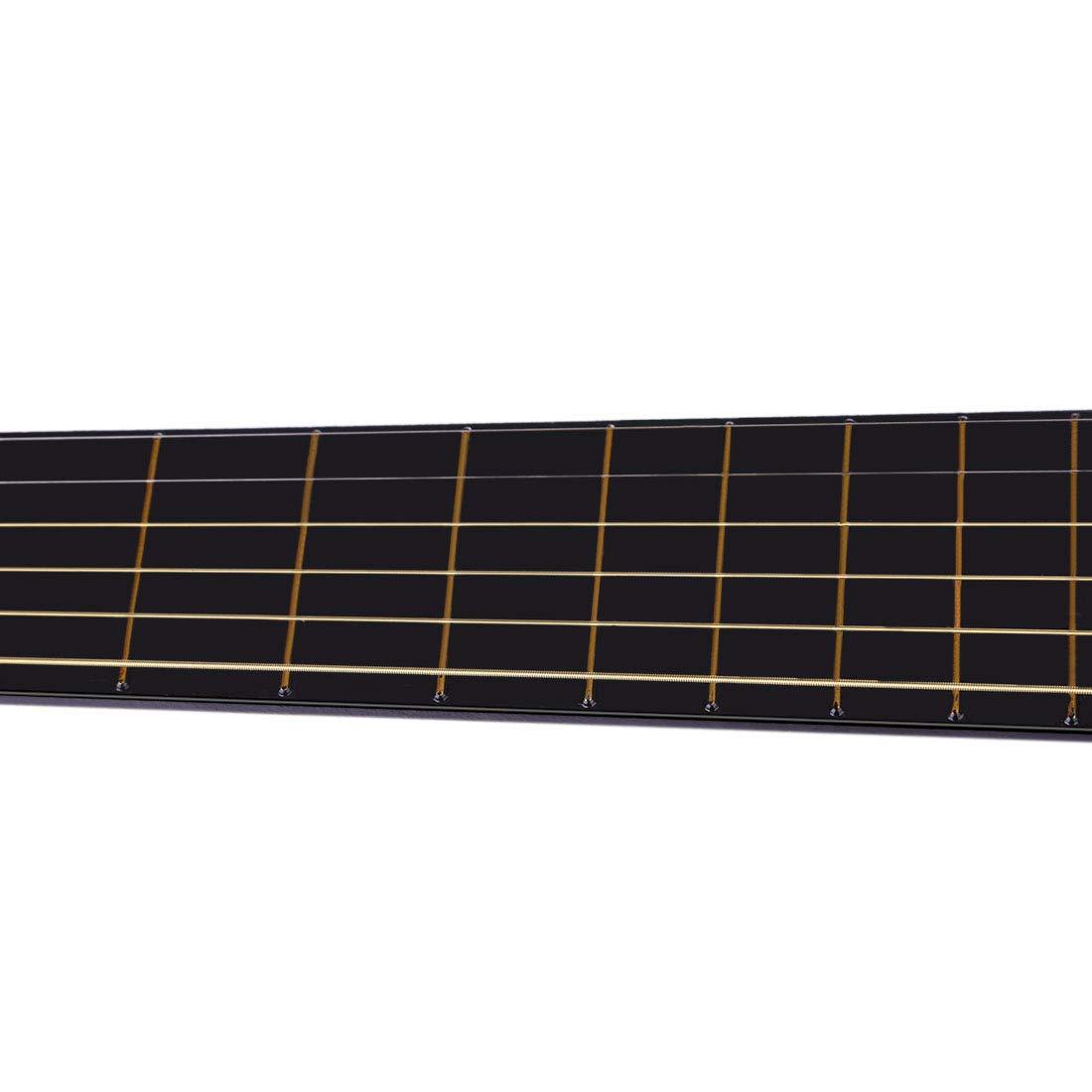 TXXCI Guitare Enfant Bois 6 Cordes Instruments De Musique Acoustique a Cordes 25 Pouce pour Guitare D/ébutant Garcon Fille 3 Ans-Rouge