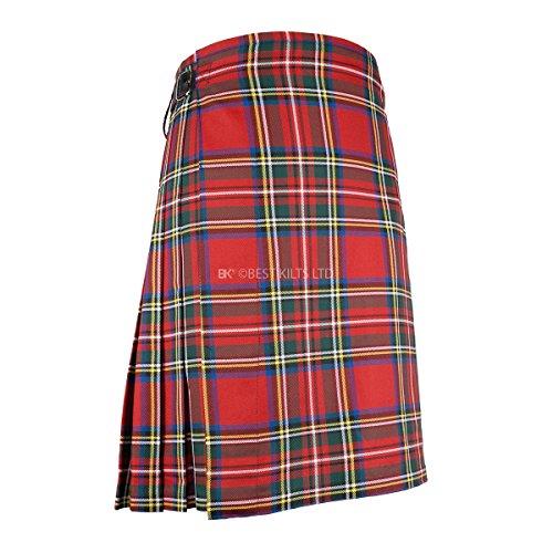 "Best Kilts Men's Scottish 5 Yard Party Kilt Royal Stewart 30""-32"""