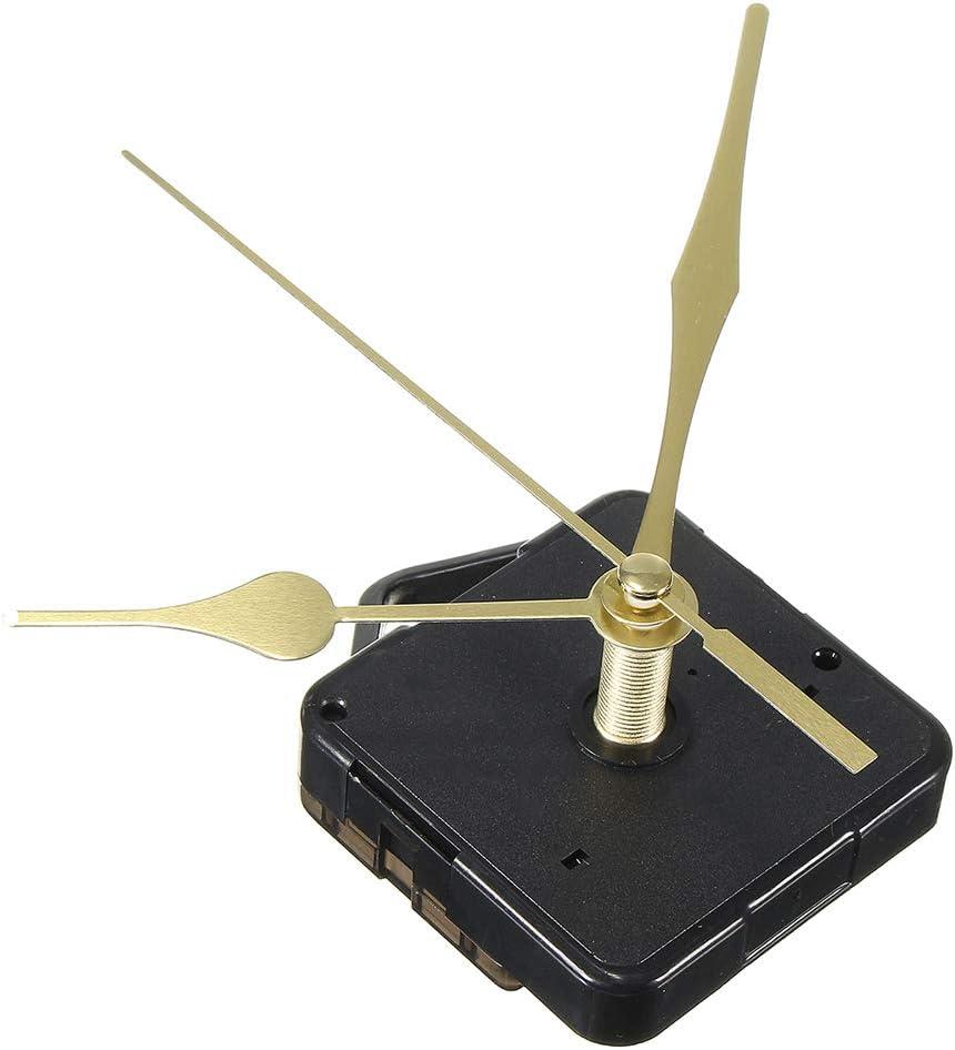 3 H/ände leise Ersatz f/ür Baum mit Langer Welle Uhrwerk f/ür Wanduhr Gold ohne Batterie DOITOOL Uhrwerk Quarz