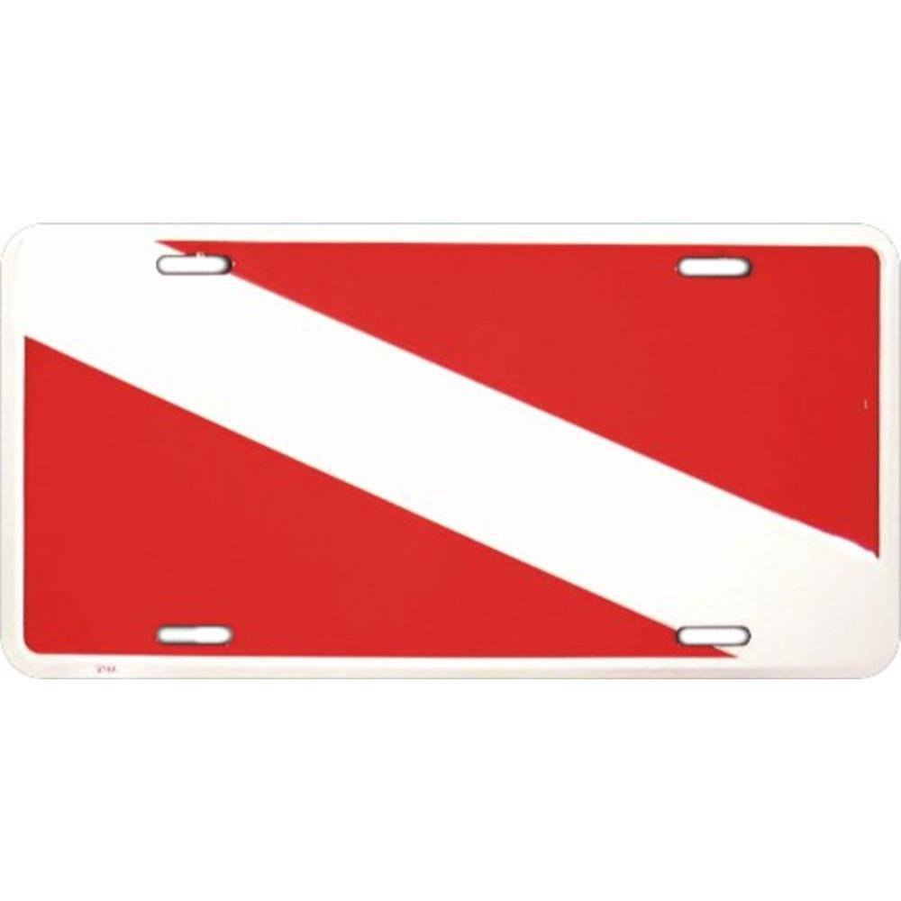 Signs 4 Fun SL2144 Divers Flag License Plate