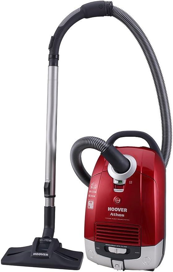 Hoover AT75 Aspirador Trineo con Bolsa, 700 W, 5 litros, 64 Decibelios, Rojo: Amazon.es: Hogar