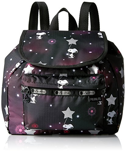 (LeSportsac Women's Peanuts X Small Edie Backpack, Snoopy In The)