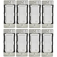 Leviton DH15S-1BZ 15A Decora Smart Switch, Works with Apple HomeKit (8 Pack)