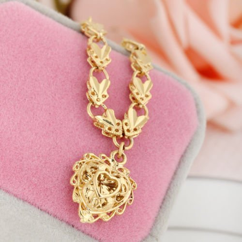 Fashion Women 18K Yellow GOLD PLATED Jewelry Heart