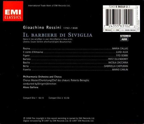Rossini: The Barber of Seville / Maria Callas