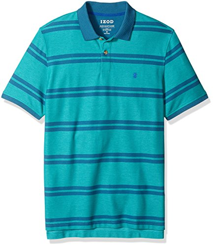 IZOD Mens Advantage Performance Double Stripe Polo