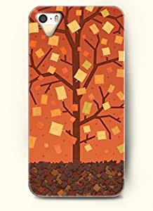 OOFIT Phone Case Design with Paper Tree with Slender Branches for Apple iPhone 4 4s 4g