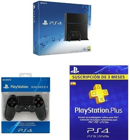 PlayStation 4 (PS4) - Consola 500GB + Mando adicional + PSN Plus ...