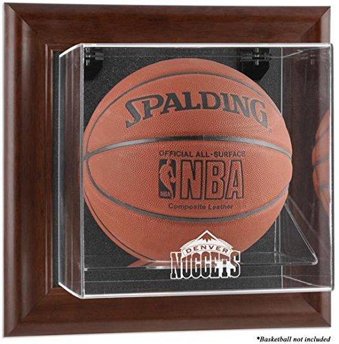 Denver Nuggets Brown Framed Wall Mounted Basketball Case Denver Nuggets Brown Basketball