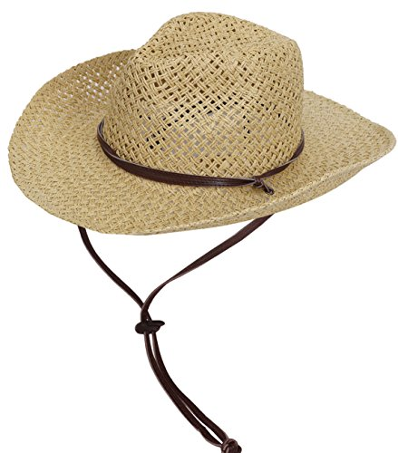 Simplicity Woven Straw Cowboy Leather