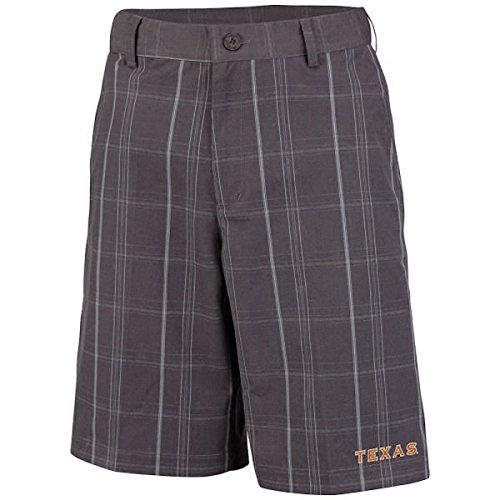 Texas Longhorns Mens Charcoal Plaid Sonoma Woven Short:30