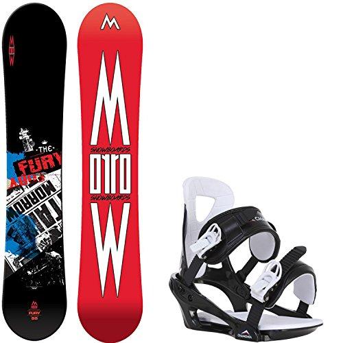 - Morrow Fury Wide 163 Mens Snowboard + Chamonix Savoy Bindings - Fits US Mens Boots Sized: 10,11,12,13
