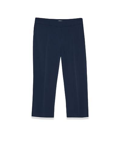 Fiorella Rubino – Pantalón de tela vaporosa elásticos, Mujer, Azul, 37